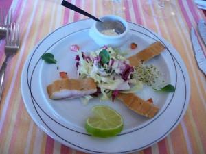 Saladine de filet de féra, sauce raifort