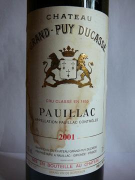 Château Grand-Puy Ducasse, Pauillac, 2001