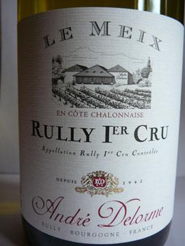 Rully Premier Cru Le Meix, André Delorme, 2007