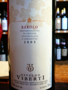 Barolo Osvaldo Viberti, 2003