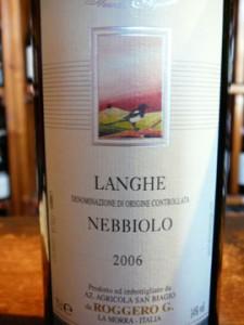 Langhe Nebbiolo, San Biagio, 2006