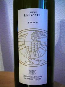 Vigne En Bayel, Féchy, Domaine de la Colombe, Raymond Paccot, 2008
