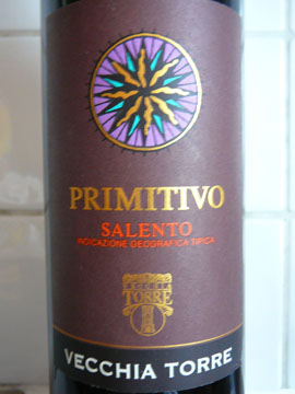 Primitivo Vecchia Torre, Salento IGT, 2007