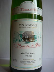 Riesling, Baron de Hoen, 2008