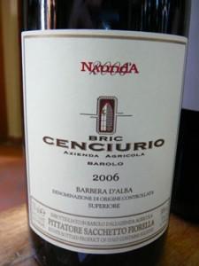 Naunda, Bric Cenciurio, Barbera d'Alba Superiore, 2006