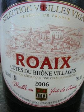 Roaix Vielles Vignes 2006