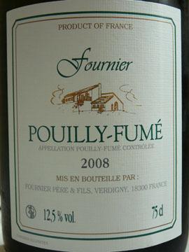 Pouilly-Fumé AOC, Fournier Père et Fils, 2008