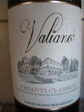 Chianti Classico DOCG Valiano 2007