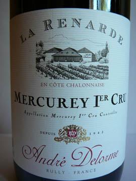 Mercurey Premier Cru La Renarde, André Delorme, 2007