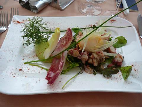 Restaurant Port de Pully  Saladine de poulpe à la Sarde