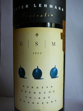 GSM, Grenache  Shiraz Mourvèdre, Barossa, Peter Lehmann, 2005