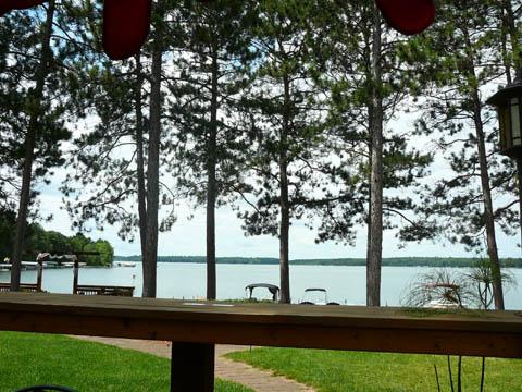 Manatthan Beach Lodge - vue depuis la terrasse