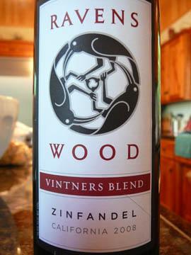 Ravenswood Zinfandel, Vinters Blend, California, 2008
