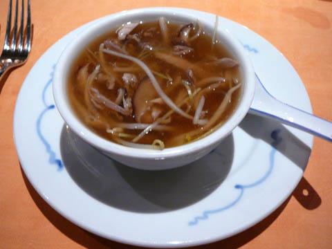 Potage au filet de canard et vermicelles chinois