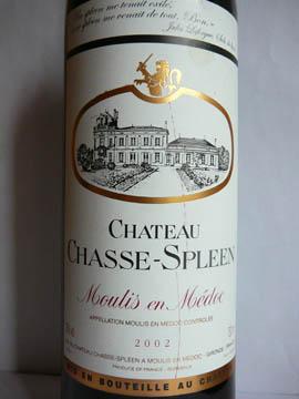 Château Chasse-Spleen, Grand Cru Exceptionnel, Moulis-en-Medoc, 2002