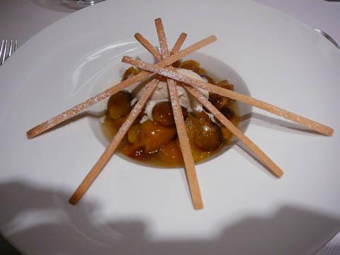 Les mirabelles d'Alsace confites au thym-citron et flambées à l'eau-de-vie du fruit
