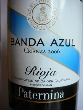 Rioja, Paternina Banda Azul, 2006