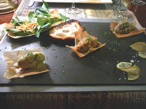 Farandole de tartares entre mer et lac (thon, féra, crabe)