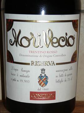 Mori Vecio Riserva, Trentino Rosso DOC, 2005