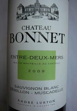 Château Bonnet, Entre-Deux-Mers, 2009