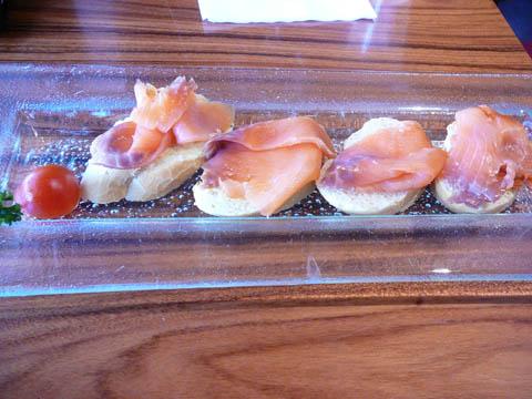 Tartines au saumon fumé