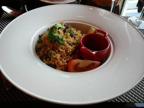 Sauté de boeuf façon thaï, riz parfumé, légumes
