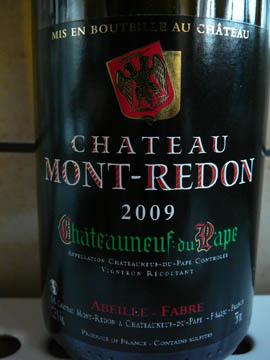 Château Mont-Redon Blanc, Châteauneuf-du-Pape, 2009