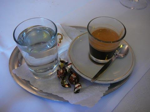 Un espresso bien servi