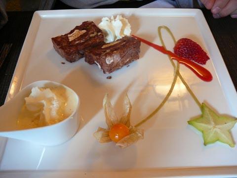 Nougat au chocolat noir de Tanzanie, crème de miel de Provence