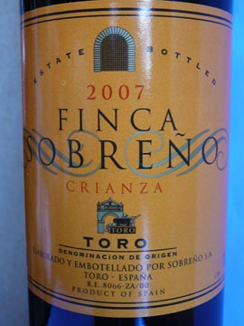 Finca Sobreno Crianza, Toro, 2007