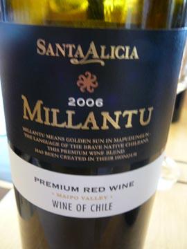 Millantu, Valle del Maipo, Vina Santa Alicia, 2006