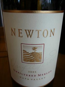 Merlot Unfiltered, Napa Valley, Newton Vineyard, 2005