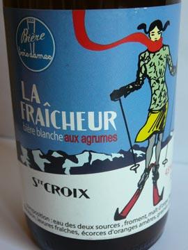 La Fraîcheur, bière blanche non filtrée, Brasserie des Trois Dames