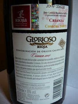 Glorioso Rioja Crianza 2007