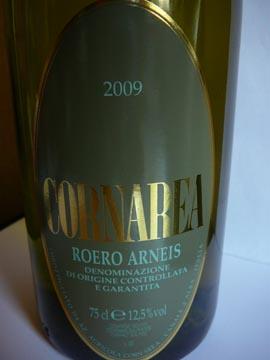 Roero Arneis DOCG Cornarea 2009
