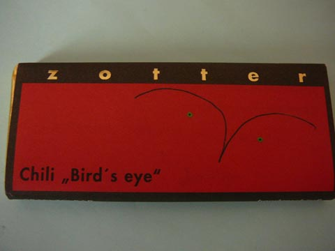 "Chocolat Zotter, Chili ""Bird's eye"""