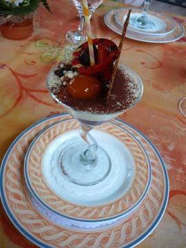 Panna cotta aux petits fruits rouges