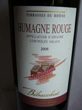 Humagne Rouge Bibacchus 2008