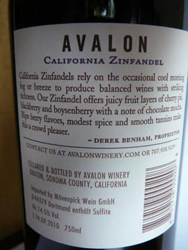 Avalon California Zinfandel 2009