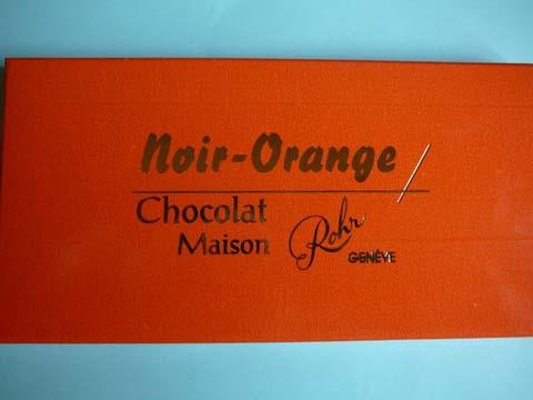 Chocolat Noir-Orange Rohr