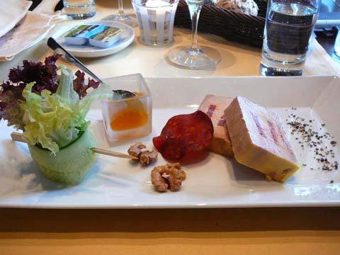 Pressé de foie gras de canard au chorizo