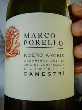 Roero Arneis Camestri, Marco Porello