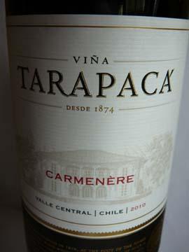 Carménère Tarapaca 2010