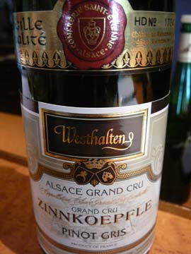 Pinot gris grand cru Zinnkoepfle