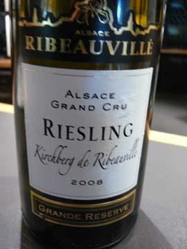 Riesling Grand Cru Kirchberg de Ribeauvillé 2008