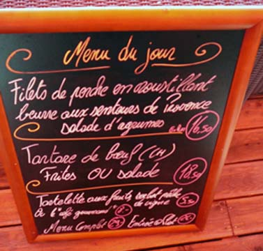 Le menu du jour de l'AO
