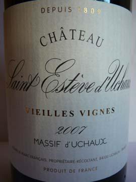 Château Saint Estève d'Uchaux Vieilles Vignes 2007