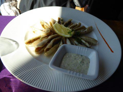 Filets de perche meunière, frites
