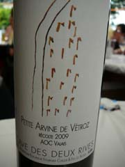 Petite Arvine de Vétroz 2009