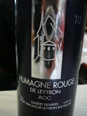Humagne de Leytron 2010
